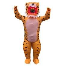Adulte Anime mascotte pourim tigre zèbre gonflable Costume Halloween Cosplay Costumes carnaval fête Costume Animal jeu de rôle Disfrace