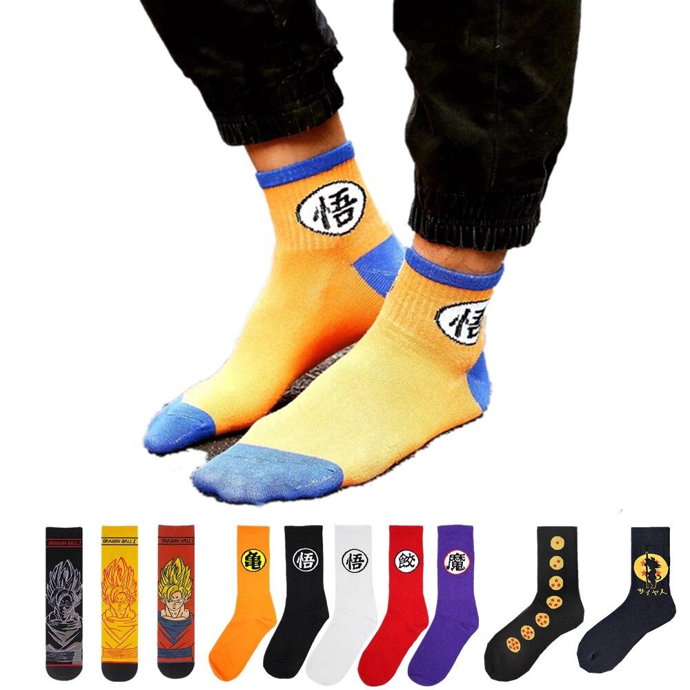 Men's Anime Super Saiyan Son Goku Dragon Z Ball Cotton Socks Harajuku Cartoon Novelty Unisex Fashion Street Skateboard Socks