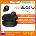Realme Knospen Q TWS ohrhörer Wahre Wireless Stereo Kopfhörer BT 5,0 Instant Auto Verbindung 20hrs Batterie Lade Box