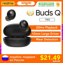 Realme için tomurcukları Q TWS kulakiçi gerçek kablosuz Stereo kulaklık BT 5.0 anında otomatik bağlantı 20hrs pil şarj kutusu