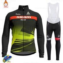 Winter Cycling Jersey 2021 Pro Team Scottes-rc Fleece Cycling Clothing MTB Cycling Bib Pants Set Ropa Ciclismo Triathlon Suit
