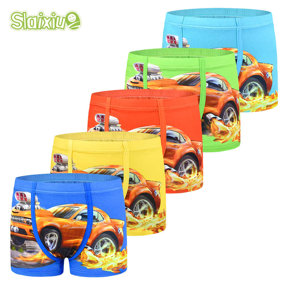 5-Pack Cartoon Car Kids Boy Underwear For Baby Children's Boxer Underpants Briefs Boys Underware Pants For 3-11 Years