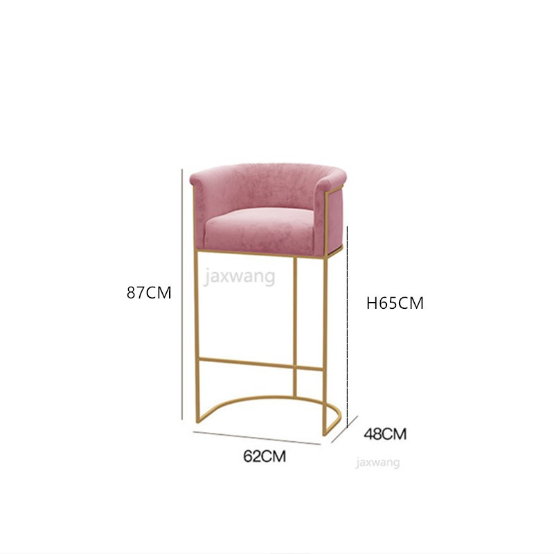 Simple Fabric Bar Chair Negotiation Office Reception Room Parlor Rest Area  Bar Chairs Wrought Iron Makeup Chair