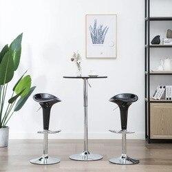 VidaXL барный стул 2 шт. пластик черный 246886