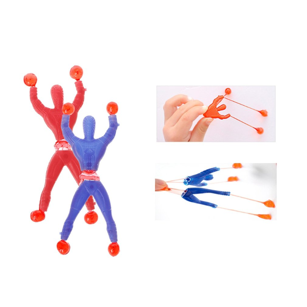 Children's Toys Climbing Wall Spiders Sticky Stalls Supplies Climbing Plastic Spider Exquisitely Designed Color Random