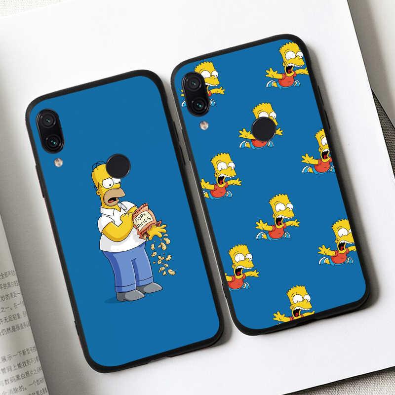Bart Simpsons untuk Xiaomi Redmi 8A S2 Pergi K20 Pro Case Telepon Penutup Silikon Lembut TPU Kembali Kasus untuk Xiomi 7A 6A 4A Coque Fundas