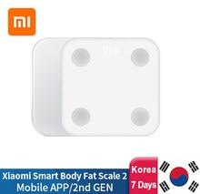 Умные весы Xiaomi 2 для определения жира в теле, оригинальные весы для определения здорового веса, ИМТ, с Bluetooth 5.0, ЖК-дисплеем, тест на баланс, сох...