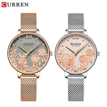 Модные женские часы из нержавеющей стали CURREN