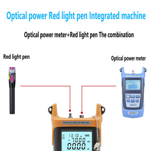 Image 4 - Fiber Optic FTTH Tool Kit with FC 6S Fiber Cleaver and Optical Power Meter 5km Visual Fault Locator Wire stripper Glasve Optisch