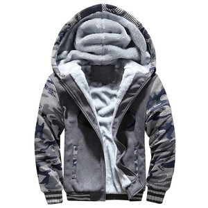 Image 4 - Mannen Camouflage Jassen Hooded Fleece Warme Dikke Mens Casual Jassen Uitloper Winter Merk Mannelijke Rits Militaire Hoodies Trainingspak