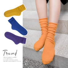 New fall winter warm Midi Knitting creative socks women high quality solid color for Korean style Women Autumn Socks