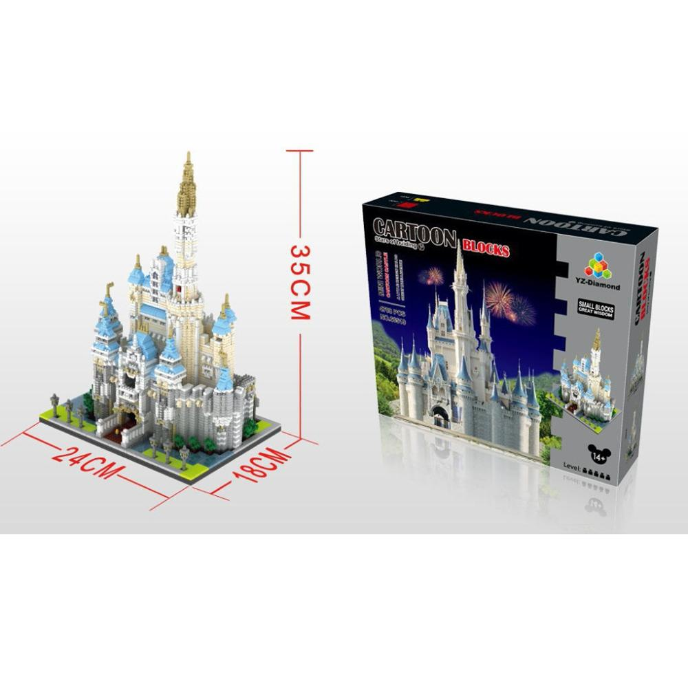 hot lepining creators city architecture Street view Famous Cartoon castle mini micro diamond blocks model bricks toys for gift