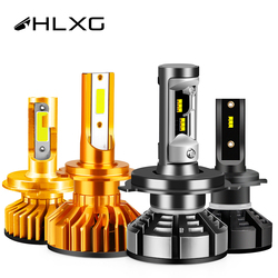 HLXG Turbo H7 Led H4 Canbus 12V Super led H1 H11 HB3 HB4 Fog Lights With ZES diode lamps for cars Headlight Bulb Motorcycle Mini
