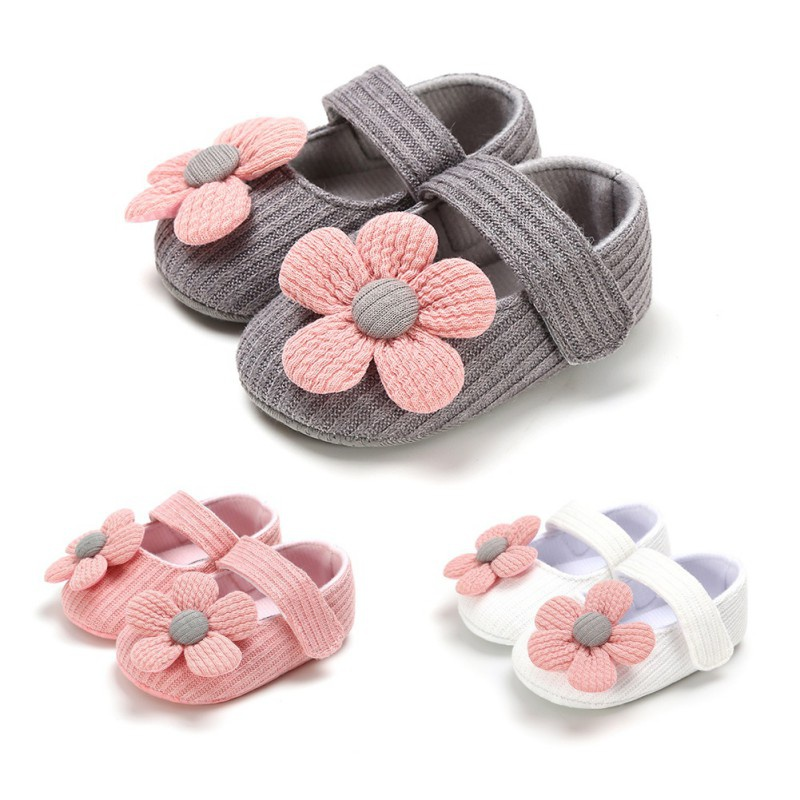 0-18M Baby First Walkers Clothing Baby Shoes Newborn Infant Pram Girls Princess Moccasins Flower Solid Soft Shoes