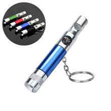 3 In 1 Keychain Flashlight Compass Whistle Camping Survival Camping Equipment Multi Tool Survival Tool Hiking Accessories #h(China)