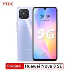 2020 nouveau Huawei Nova 8 SE 8GB RAM 128GB ROM 5G téléphone intelligent 6.53 ''OLED écran 3800mAh batterie arrière caméra principale 64.0MP 66W Charge