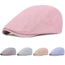 Мужские повседневные летние тонкие газетные шляпы для гольфа Классическая Шапка полосатые береты шляпа