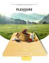 Одеяло для пикника водонепроницаемый складной уличный коврик