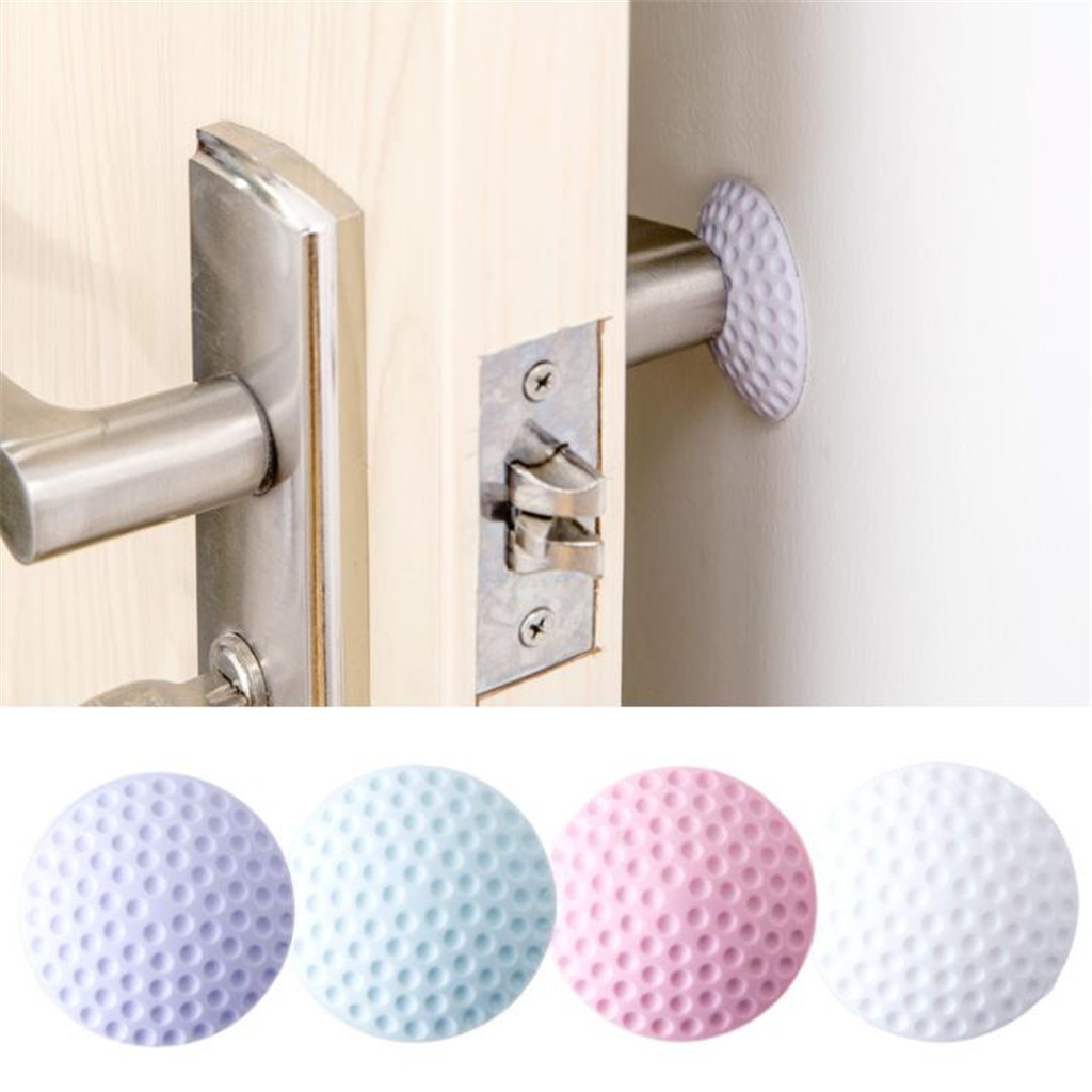Creative Wall Protector Self Adhesive Door Handle Bumper Guard Stop Rubber Pad