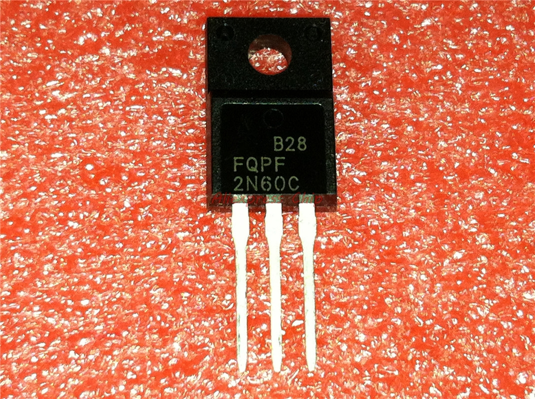 1pcs/lot FQPF2N60C <font><b>2N60C</b></font> 2N60 600V 2A MOSFET N-Channel transistor TO-220F new original In Stock image