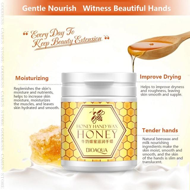 Peeling Hand Feet Mask Wax Honey Essence Paraffin Bath Sodium Hyaluronate Moisturizing Spa Exfoliating Hands Foot Care Cream P 3