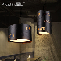 Coffee shop chandelier loft personality retro creative restaurant bar bar aisle light