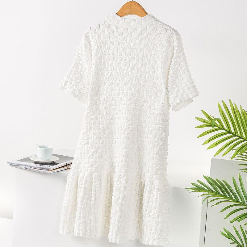 2020 Dress Women Sleeveless Casua Dresses  Bangage Midi Dress Female Knee Length  White