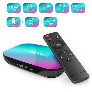 Image 2 - 50 Stks/partij Smart Tv Box Hk1box Android 9.0 Amlogic S905X3 8K Dual Wifi Bt Snelle Set Top Box Hk1 x3 Pk HK1MAX H96 A95x