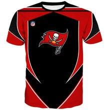 Redcats de moda de camisetas de los buccaneers rojo blanco costura negra a rayas bandera pirata 3dt camisa 2