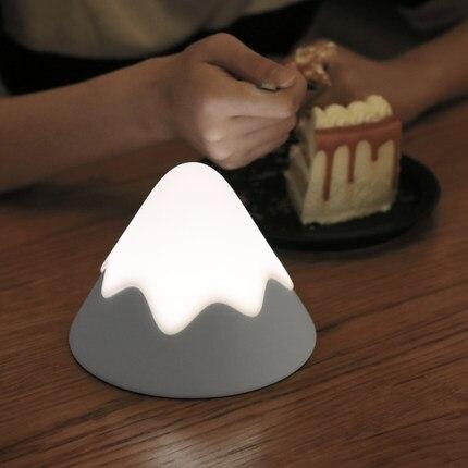 Снег в форме горы usb зарядка светодиодный ночник Гора Фуджи атмосферный свет постепенно свет креативный прикроватный светодиодный