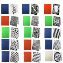 1PC Plastic Embossing Folders Transparent Template Photo Album Fondant Decoration Making Scrapbooking Craft Card DIY hand Stamps(China)