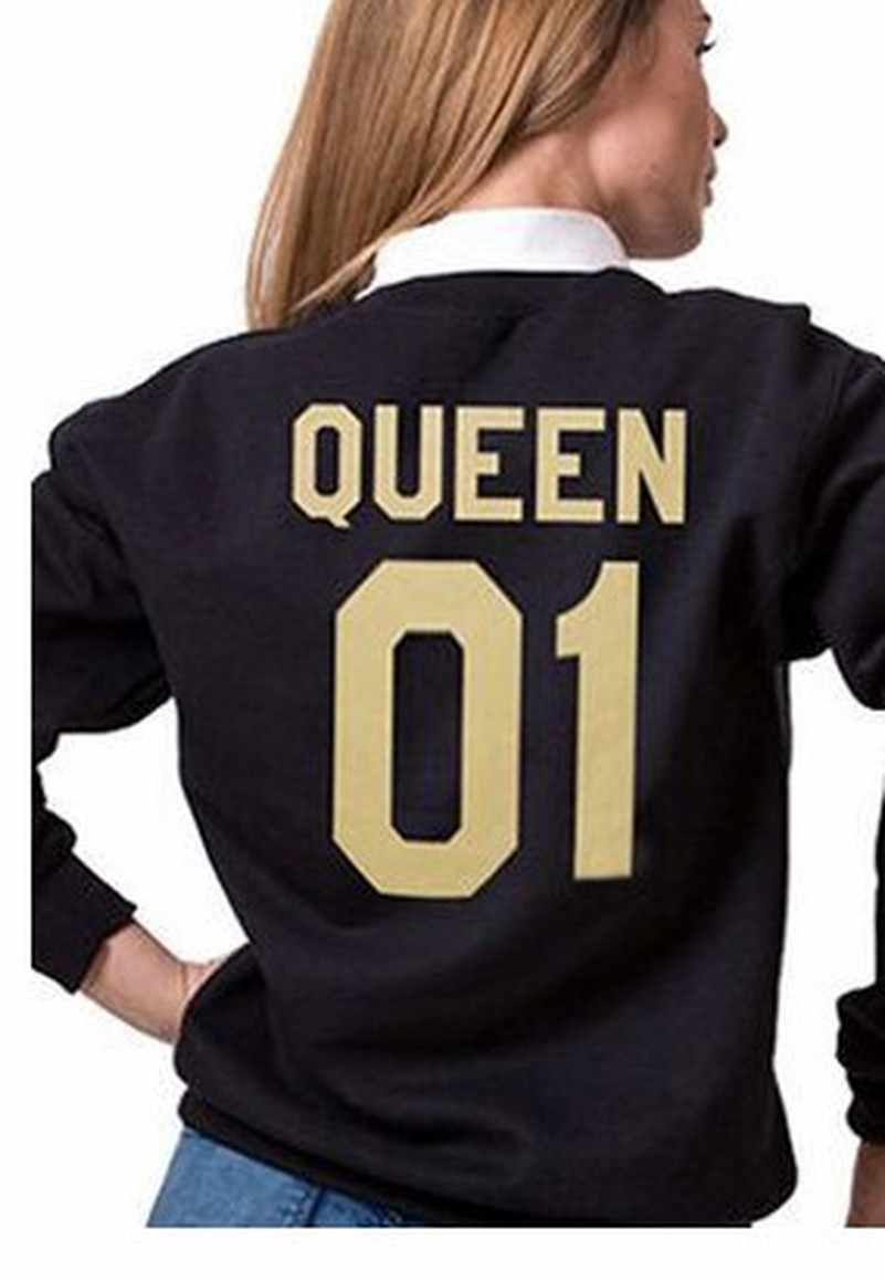 King Queen GOLD Hoodies เสื้อ EuropeTops 2020 ผู้หญิง Casual Kawaii Harajuku Kpop เหงื่อ Punk สำหรับสาวเสื้อผ้าเกาหลี