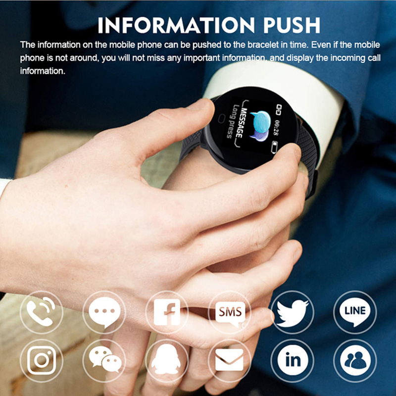 Smart Watch Men 1.3'' Screen Fitness Tracker Ip67 Waterproof Blood Pressure Heart Rate Monitor Smartwatch Woman For Android IOS 5