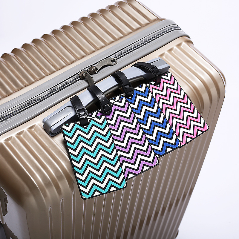 New Fashion Wavy Fringes Silicone Suitcase Luggage Tags ID Address Holder Luggage Label Travel Accessories 6 Colour