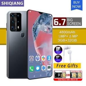 SOYES P40 Pro Мобильный телефон Android 3 Гб оперативной памяти 32 Гб ПЗУ 6.7in уход за кожей лица и отпечатков пальцев сотовом телефоне 5 + 8 Мп камера 2 сим...