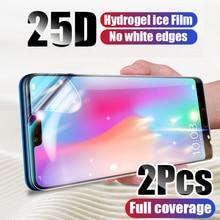 2 Stuks Screen Protector Hydrogel Film Voor Xiaomi Mi 10 Mi 9 Mi 9T Pro Mi 8 A3 Beschermende film Voor Redmi Note 9 8 7 K20 K30 Pro 9S