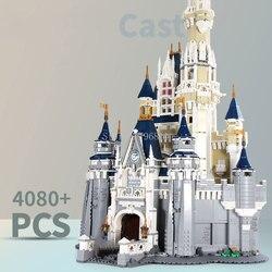 16008 4080PCS Cinderella Princess Castle City Series Model Building Block Bricks Children's educational Gift 71040