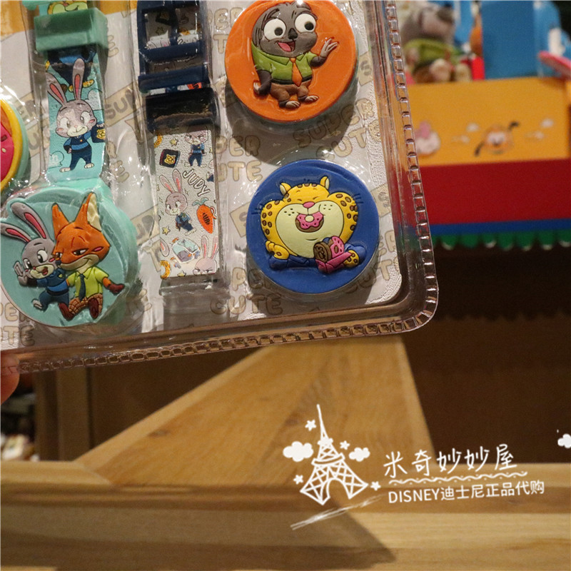 Disney оригинал покупки милый сериал сумасшедший животное город дети% 27 школа сумка часы милый мультфильм дети% 27 часы