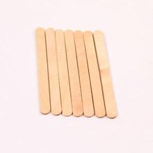 50 pièces bâton de crème glacée bricolage à la main en bois jouets bande matériel Lolly bâtons bâton en bois pour fabricant de crème glacée