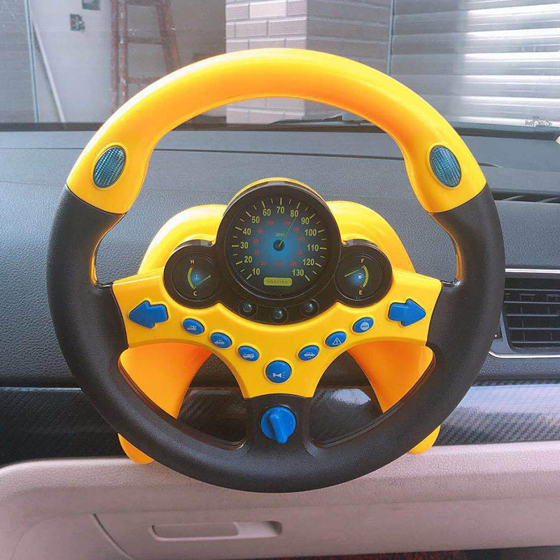 Children's Toy Steering Wheel Simulation Wheel Copilots Simulated Steering Toys Wheel Early Education Sounding Toy Kid Toys Gift