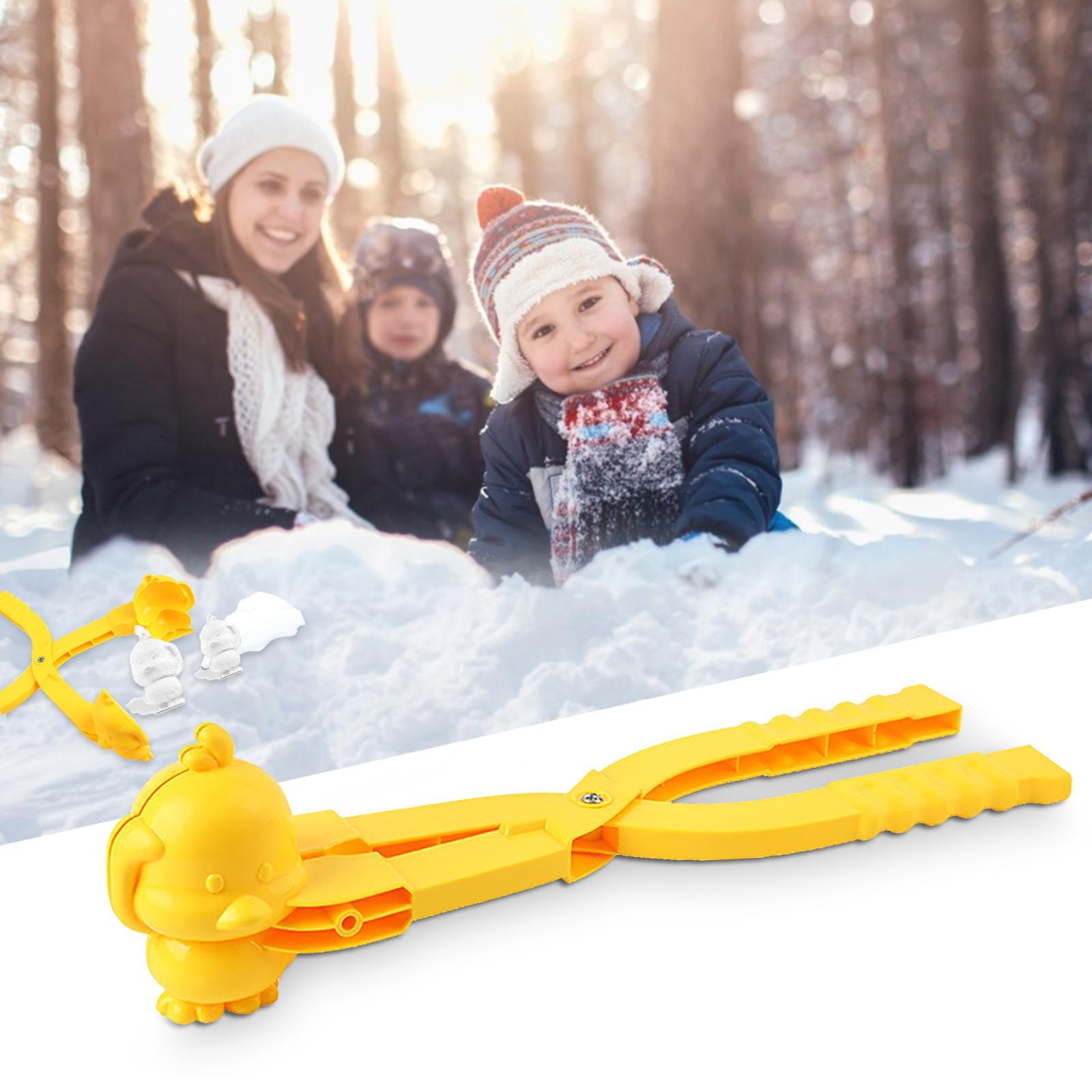 1pc hiver en plein air boule de neige fabricant sable moule outil enfants jouet neige Scoop fabricant pince boule de neige sport enfant jouet