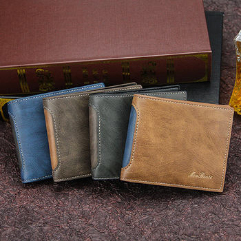 Leather Slim Wallets Mini Wallets Magic Card Holder Men Wallets Money Bag Male Vintage Black Short Purse short men wallets 100