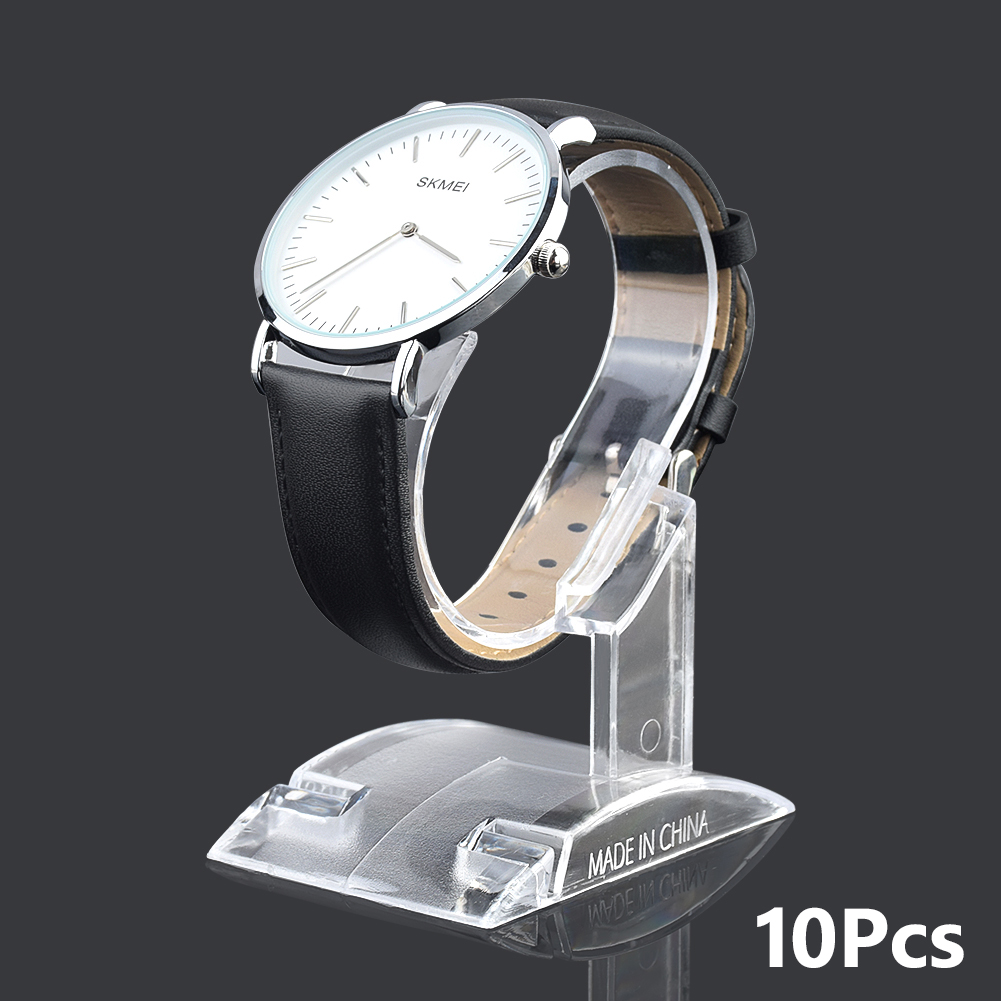 10Pcs Clear Acrylic Watch Display Holder Stand Rack Showcase Tool Transparent Wristwatch Lightweight Stand Case