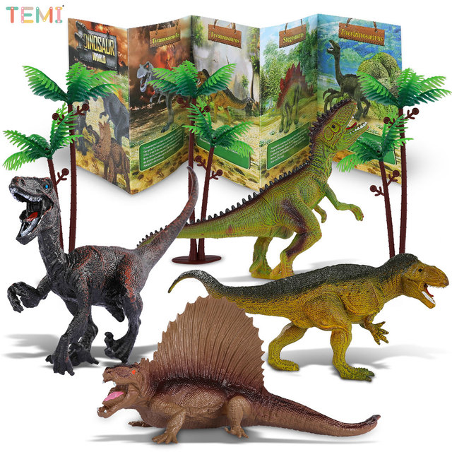 Jurassic Park Dinosaurs Toy Animal Jungle Set T Rex Dinosaur Excavation Educational Boys Children Toys for Kids 2 to 4 Years Old 2