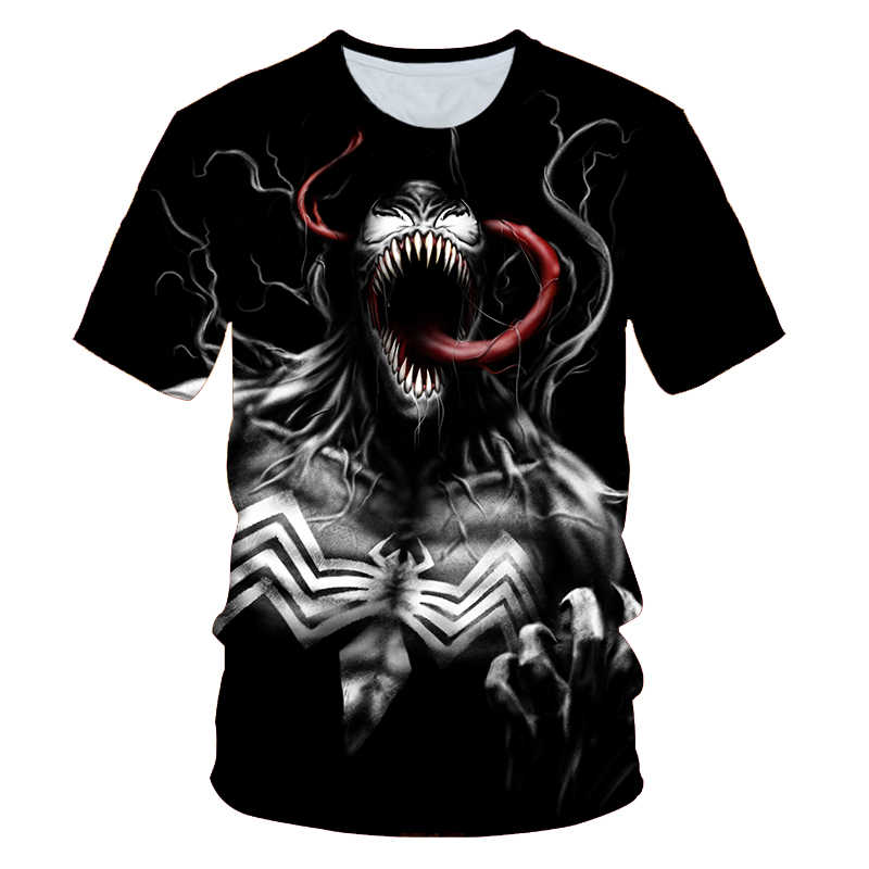 """PINSHUN 2019 Футболка мужская новейшая Venom Футболка """"Марвел"""" футболки с 3D-принтом Мужская Женская Повседневная рубашка фитнес футболки и топы Европа"""