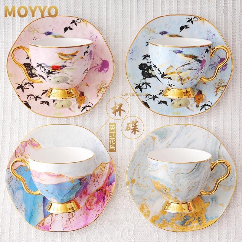 Kupalar kahve kupaları porselen kahve kupası kemik çini Coffeeware çay fincanları ve altlık setleri doğum günü hediyesi düğün dekorasyon yeni varış