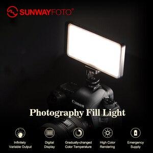 Image 4 - SUNWAYFOTO FL 120 LED lumière vidéo éclairage Photo sur Olympu Pentax DV caméra chaussure chaude réglable LED pour DSLR YouTube studio photo