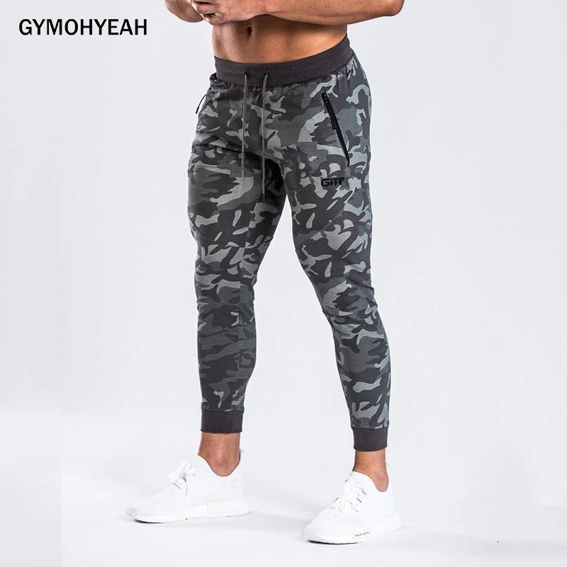 GYMOHYEAH New Men Pants Fashion Splicing Harem Camouflage Pants Male Trousers Mens Joggers Solid Tight Pants Mens Sweatpants
