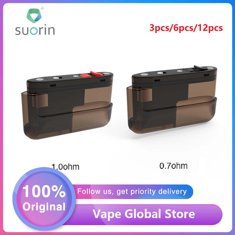 Original 3pcs/12pcs <font><b>Suorin</b></font> <font><b>Air</b></font> <font><b>Plus</b></font> <font><b>Pod</b></font> <font><b>Cartridge</b></font> 3.5ml Capacity E-cig <font><b>Pod</b></font> with 0.7ohm/1.0ohm Coil for <font><b>Suorin</b></font> <font><b>Air</b></font> <font><b>Plus</b></font> <font><b>Pod</b></font> Kit image