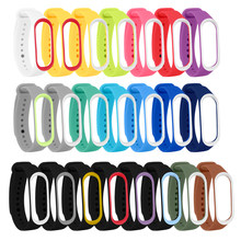 Bracelet for Xiaomi Mi Band 4 3 Sport Strap watch Silicone wrist strap For xiaomi Miband 3 4 Accessories M3 M4 wristband Strap(China)